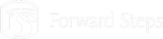 Forward Steps white logo